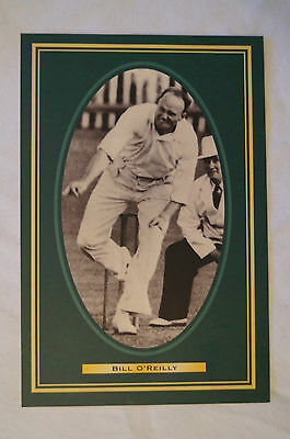 Cricket Collectable Postcard - Hall of Fame Inductee - Bill O'Reilly.