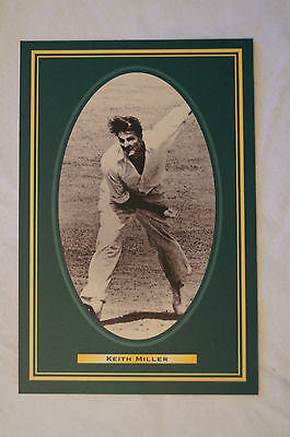 Cricket Collectable Postcard - Hall of Fame Inductee - Keith Miller.