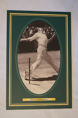 Cricket Collectable Postcard - Hall of Fame Inductee - Ray Lindwall.