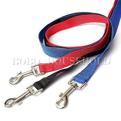 Strong Nylon Dog Puppy Lead Leash Clip to Collar Harness Safety Belt 120cm 20mm