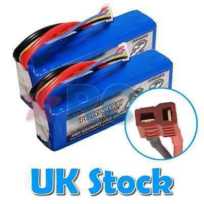 Twin Pack Turnigy LiPo Battery 3s 11.1v 2200mAh 20c-30c RC Plane Car Deans style