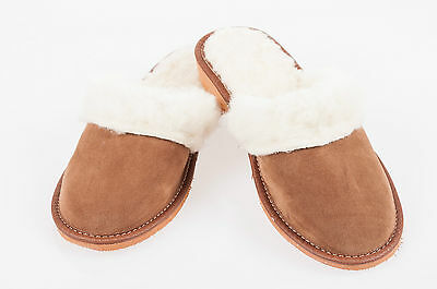 Women`s/Ladies Warm Slippers 100% Suede Leather&Sheepwool size:UK3,4,5,6,7,8