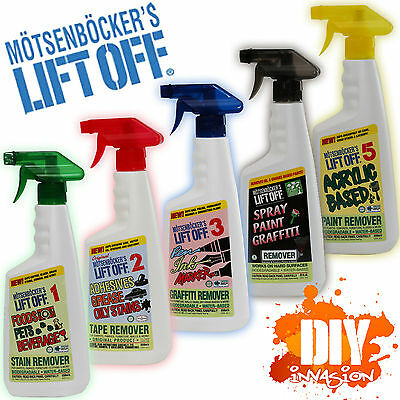 Motsenbockers Lift Off Stain Remover #1 #2 #3 #4 #5 Food Grease Ink Paint Glue