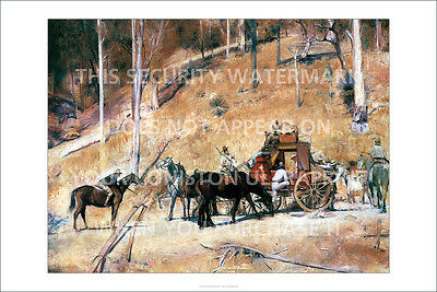 """TOM ROBERTS - BAILED UP - 36"""" x 24"""" ULTRAPRINT POSTER REPRODUCTION x"""