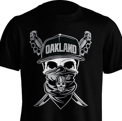 The Silver & Black Nation Oakland LA Raiders Skull Shield ...