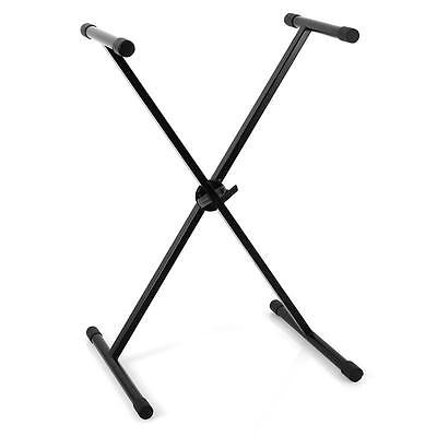 Studio Keyboard Stand For Digital Piano Midi Controller Space Saving New - Black