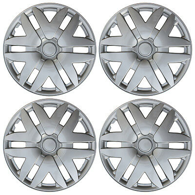 "4 NEW ABS Silver Fits 2004 2005 2006 2007 TOYOTA SIENNA 16"" Wheel Hub Caps Cap"