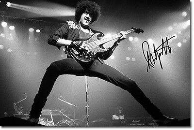 PHIL LYNOTT - SIGNED PHOTO PRINT POSTER - HIGH QUALITY - THIN LIZZY