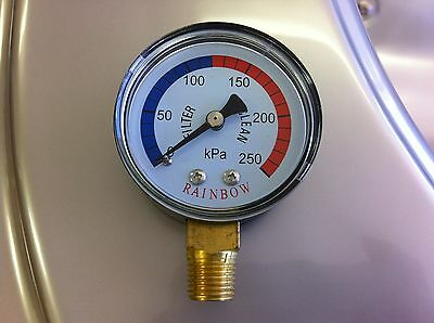 Pressure Gauge for Pool filter side mount  - brass thread