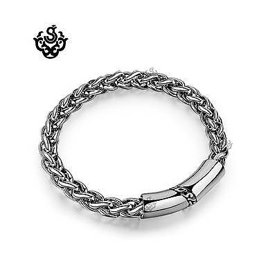 Silver bracelet bikies chain stainless steel solid strong soft gothic