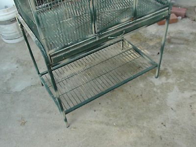 "USED Pali Place Flight Bird Cage + stand  30"" 18"" D  62"" H   PICK UP CA 92620 #2"