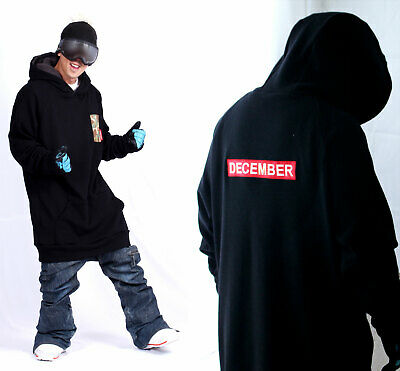New arrival December long tall hoodie ski snowboard-basic red