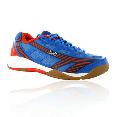 Hi-Tec V-Lite Infinity Mens Blue Indoor Squash Badminton Sports Shoes Trainers