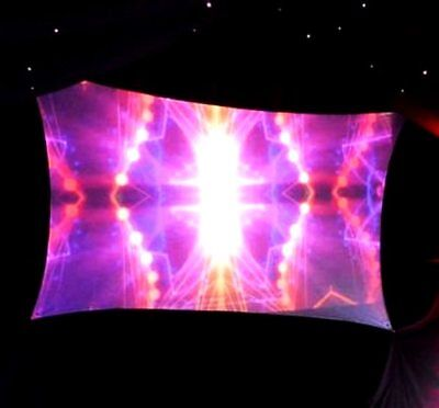 "Portable Projection Screen, Dj Screen, 72"" X 48"" (6' X 4'), Front/rear"