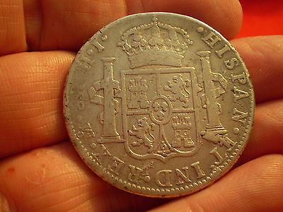 Early Colonial 1810 MO HJ Ferdinand V11 Silver 8 Reales Nice Historic Coin