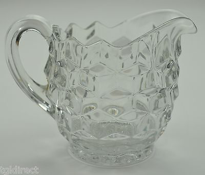 "Vintage Fostoria Glass American Clear Pattern Creamer 3.75"" Crystal Collectible"