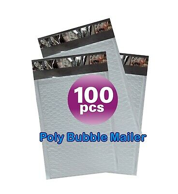 Yens® 100 #1 Poly Bubble Padded Envelopes Mailers 7.25 X 12