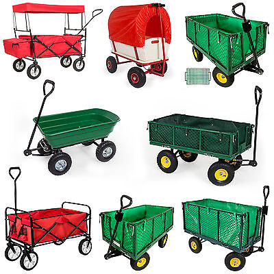 Heavy Duty Wheelbarrow Garden Mesh Cart Trolley Utility Cart Tipper Dump
