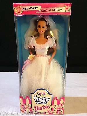 NEW Country Bride Brunette BARBIE #13616 Wedding Dress Wal-Mart Special Edition