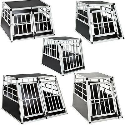 Aluminium Dog Pet Cage Transport Crate Car Travel Carrier Box