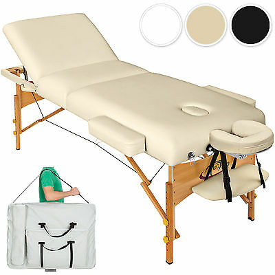 Luxury Portable Folding Massage Table Therapy Beauty Bed 10cm Padding + Bag