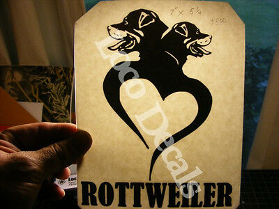 Decal Vinyl  Dog Rottweiler vinyl sticker