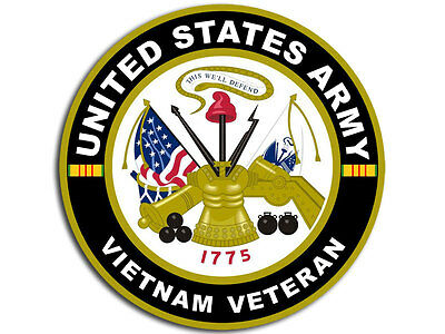 4x4 inch US Army VIETNAM VETERAN Sticker - decal military troops vet serve