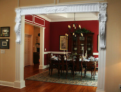 Victorian Style Corbel DIY Beautiful curved Room Entrance Doorway Front set CR0