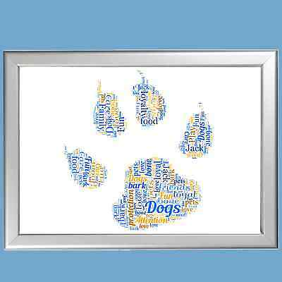 Dog Word Art - Beautiful Personalised Memorial Print, Commemorate A Beloved Pet