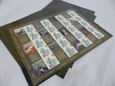 Stamp stock sheet: Unpunched Prinz system black pages to hold A4 sheets per 10