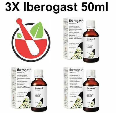 GENUINE 3x Flordis Iberogast Oral Liquid 50mL for Dyspepsia IBS