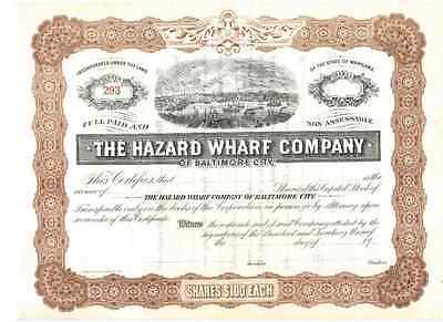 Hazard Wharft Company  of Baltimore City