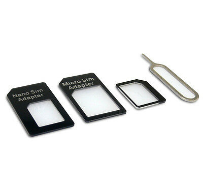 4 in 1 Nano Sim Card Adapter Converter To Micro Sim + Standard Sim for iPhone 6