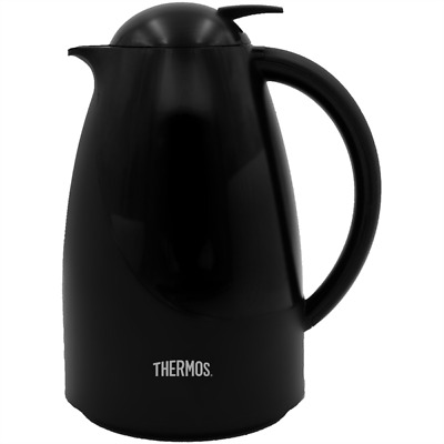Thermos Patio Glass Lined Carafe, 1.0L, Black - 075553