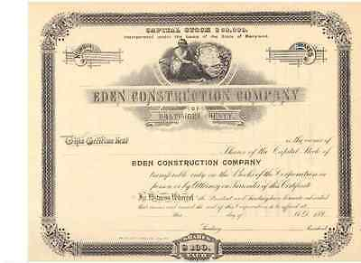 Eden Construction Company  Baltimore