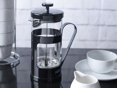 LA CAFETIERE Monaco Black 8 CUP French Press GROUND COFFEE Maker Plunger Filter