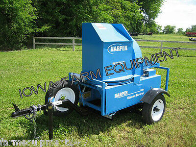 "Harper Goossen Straw Blower,Straw Chopper: Trailered, 13HP Honda, 6""x30' Hose"