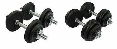 CrystalTec 20kg, 30kg Dumbbell Set Cast Iron Free Weights Biceps Triceps Gym