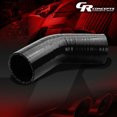 "2.5"" 45 Degree 4-Ply Black Silicone Hose Turbo/intake/intercooler Pipe Coupler"