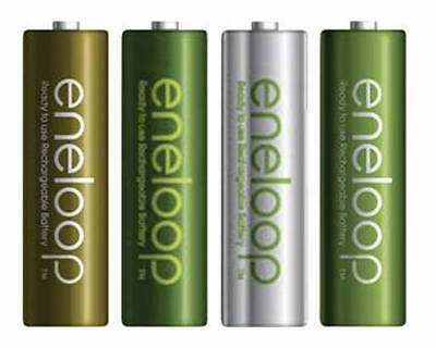 4x Panasonic Eneloop AA Rechargeable LSD NiMH Batteries - 4th Gen