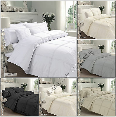 Superior Cotton Hamlet Duvet Quilt Cover With Pillowcase Bedding Set All Sizes