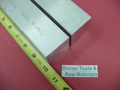 "2 Pieces 1-3/4""x 1-3/4"" ALUMINUM SQUARE 6061 FLAT BAR 10"" LONG SOLID Mill Stock"