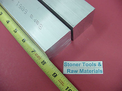 "2 Pieces 1-3/4""x 1-3/4"" ALUMINUM SQUARE 6061 FLAT BAR 8"" LONG SOLID Mill Stock"
