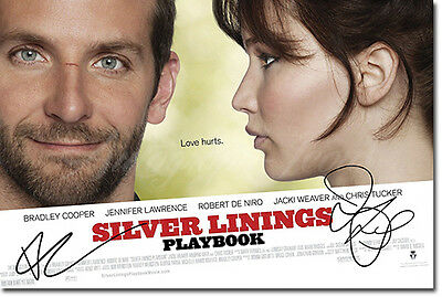 SILVER LININGS PLAYBOOK SIGNED PHOTO PRINT - BRADLEY COOPER - JENNIFER LAWRENCE
