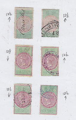 NEW SOUTH WALES (Revenues) 6/- Value Rare in Numbers Diff. Shades Etc...FISCALS