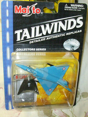 2001 MAISTO TAILWINDS FRENCH MIRAGE 2000C FIGHTER SOME OF THE CARDS MAY HAVE MIN