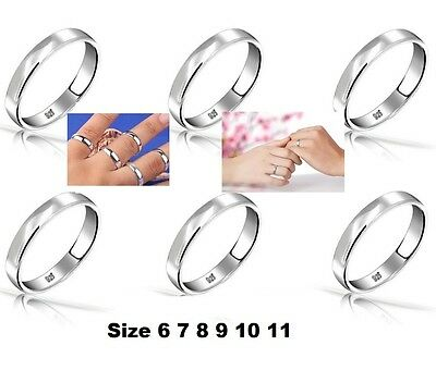 USA Seller- 925 Sterling Silver 4mm- Wedding Band Ring Size 6, 7, 8, 9, 10, 11