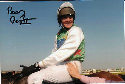 Barry Geraghty Monty's Pass Hand Signed 6X4 Photo 2003 Grand National.