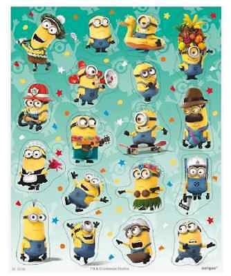 72 Despicable Me Stickers, 4 Sheets, perfect party bag fillers, New Design