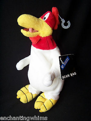 "8"" Bean Bag FOGHORN LEGHORN PLUSH ROOSTER LOONEY TUNES WARNER BROTHERS Stuffed"